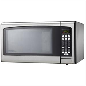 Microwave oven black stainless steel