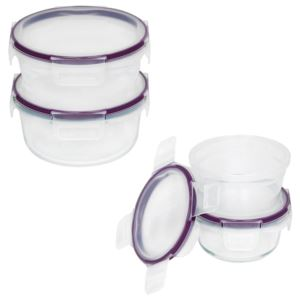 Total Solution Glass & Plastic Food Storage Round Set - (8 Piece)