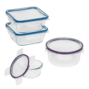 Total Solution Glass Food Storage Container Set - (8 Piece)