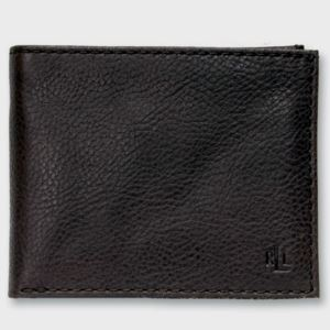 Tumbled Pebbled Leather Billfold Black