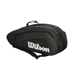 Federer Team 6 Racket Tennis Bag Black/White