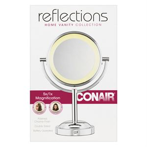 Double Sided Battery Operated Lighted Makeup Mirror