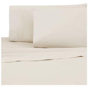 Sateen Standard Pillowcase Pair - (Ivory)