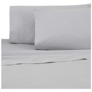 Sateen Standard Pillowcase Pair - (Grey)