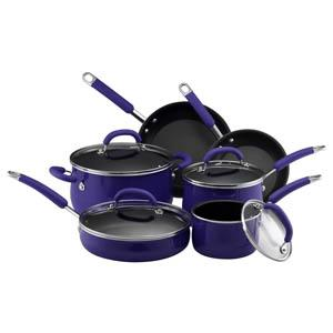 10-Pc Cookware Set - Porcelain Enamel (Blue)
