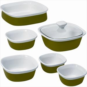 Etch 7-Pc Bakeware Set (Grass)