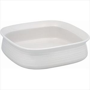 "Etch 9"" Baking Dish (White Linen)"