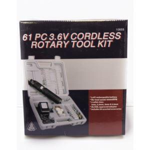61pc 3.6V Cordless Dremel Style Die Grinder Kit