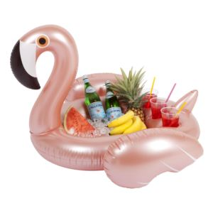 Inflatable Pool Bar Rose Gold Flamingo
