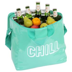 Beach Cooler Bag - Large Neon Turquoise