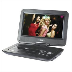 "10"" Swivel Screen Portable DVD Player w/USB/SD/MMC Inputs"