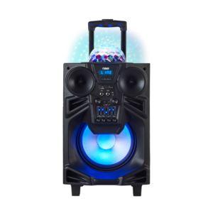 "10"" Portable Bluetooth Speaker w/Disco Dome Light"