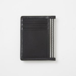 Card Case with Bottle Opener - Br. Microfiber-Charcoal Black
