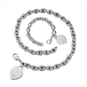 Heart Tag Jewelry Set