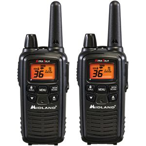 26 Mile Range 36 Channel Two-Way Radio Pair with Monitor and Silent Operation- Black
