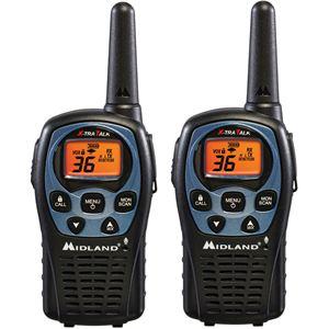 26-Mile Range 36 Channel Two-Way Radio Pair - Black