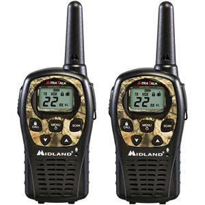 24 Mile Range 22 Channel Two-Way Radio Pair - Camo