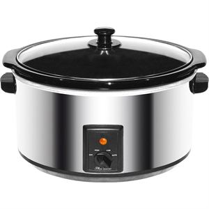 8 QT Slow Cooker (Stainless Steel)