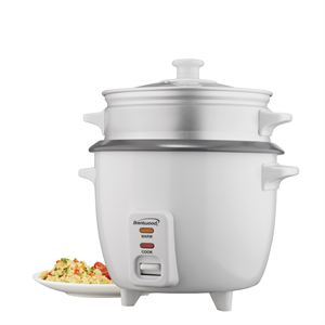 10 Cup Rice Cooker with Steamer (White)