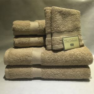 Deluxe Towel Set Taupe - (6 Piece)