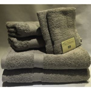 Deluxe Towel Set Pearl Gray - (6 Piece)