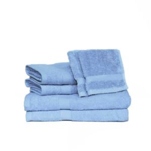 Deluxe Basics Solid Towel Set - (Ocean) - (6 Piece)