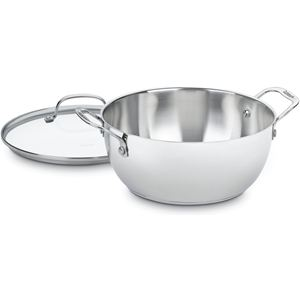 Classic Stainless 5.5 Qt. Multi-Purpose Pot with Tempered Glass Cover