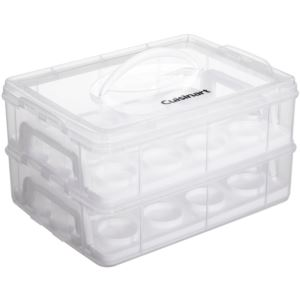 Stackable Cupcake Carrier (24 cupcakes), Clear/White