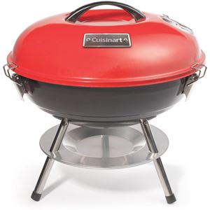 14-In. Portable Charcoal Grill in Red/Black