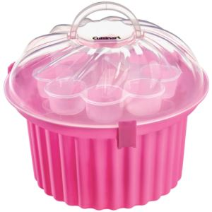 Cupcake-Shaped Cupcake Carrier (24 cupcakes), Pink/Clear