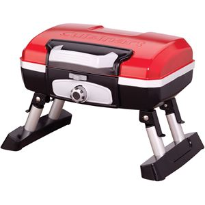 Petit Gourmet Portable Tabletop Outdoor LP Gas Grill in Red/Black