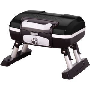 Petit Gourmet Portable Tabletop Outdoor LP Gas Grill in Black