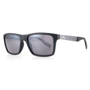 Plasma Sunglasses - Matte Black/Smoke Light Red Mirror