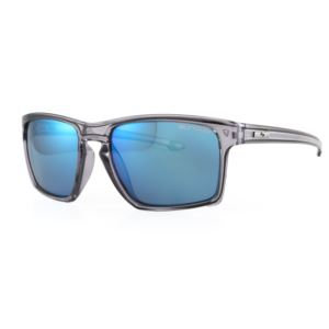 Vagabond Sunglasses - Crystal Grey/Smoke Light Blue Mirror