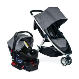 B-Lively 3-Wheel Stroller/B-Safe 35 Infant Car Seat Gen 2 Flex-Fit Travel System - Fog