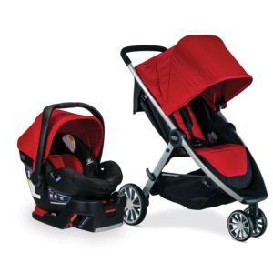 B-Lively/B-Safe 35 Travel System- Cardinal