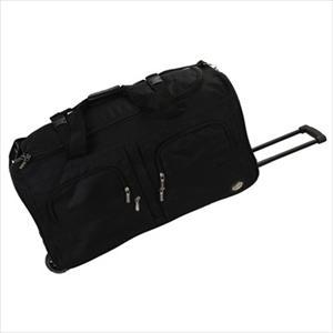 "30"" Rolling Multi-Pocket Duffle - Black"