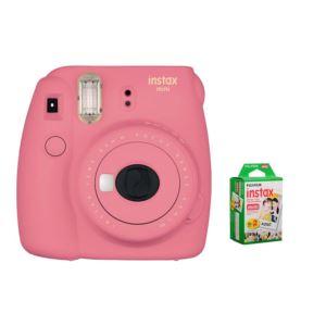 Instax Mini 9 With Film Bundle - (Flamingo Pink)