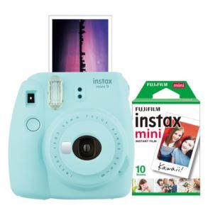 Instax Mini 9 With Film Bundle - (Ice Blue)