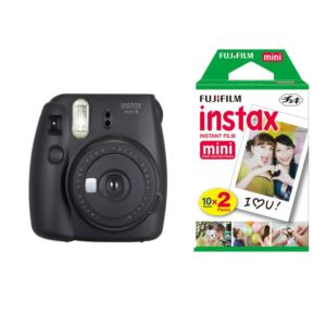 Instax Mini 9 with Film Bundle - (Black)