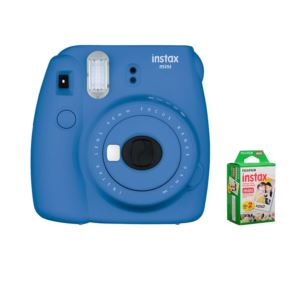 Instax Mini 9 With Film Bundle - (Colbalt)