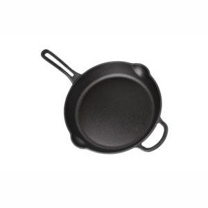 "Cast Iron 12"" Round Skillet - Black"