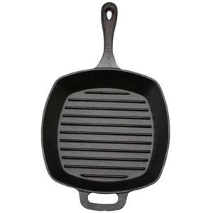 "10"" Square Cast Iron Grill Pan"