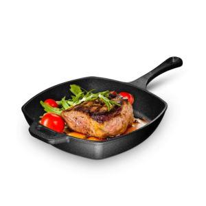 10 - Inch Square Cast Iron Preseasoned Grill Pan