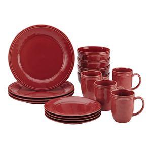 Cucina 16pc Dinnerware Set Red