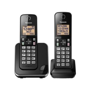 Expandable Cordless Phone with 2 Handsets