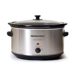 Gourmet Deluxe Sized 8.5qt Stainless Steel Slow Cooker
