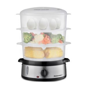 Gourmet 9qt Stainless Steel 3-Tier Food Steamer