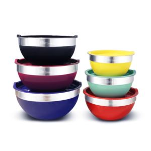 12pc Multicolored Mixing Bowl Set