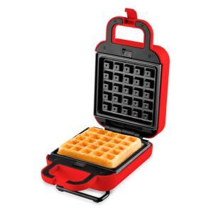 3-in-1 Waffle + Sandwich Maker/Grill  Red